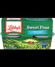 Libby's® Sweet Peas Lightly Seasoned with Sea Salt 4-4 oz. Cups