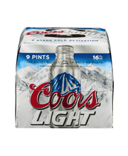 Coors Light® Beer 9-16 fl. oz. Aluminum Bottles