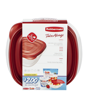 Rubbermaid Take Alongs Deep Squares Containers + Lids 5.2 cup...