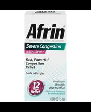 Afrin® Severe Congestion Nasal Spray 0.5 fl. oz. Box