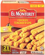 El Monterey® Chicken Taquitos 21 ct Box