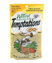 Whiskas® Temptations® All Natural Free Range Chicken Flavor Cat Snacks & Treats 2.47 oz. Pouch