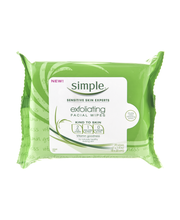 Simple® Exfoliating Facial Wipes 25 ct Pack