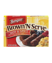 Banquet Brown 'N Serve Cooked Sausage Links Hot & Spicy - 10 CT