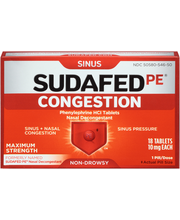 Sudafed PE® Non-Drowsy Sinus Congestion Maximum Strength Tabl...