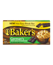 Baker's German's Sweet Chocolate Premium Baking Bar 4 oz. Box