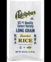 Adolphus Long Grain Enriched Rice 25 Lb Bag