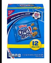 Nabisco Mini Chips Ahoy! Chocolate Chip Cookies 12-1 oz. Packs