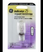 GE Specialty Indicator Intermediate Base T 25 Watt Microwave ...