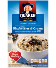 Quaker® Blueberries & Cream Instant Oatmeal 10–1.23 oz. Packets