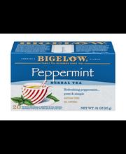 Bigelow® Peppermint Herbal Tea Bags 20 ct BoxBIgelow® Menthe ...