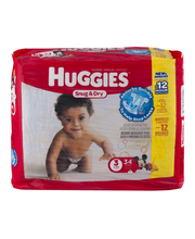 Huggies® Snug & Dry* Size 3 Diapers 34 ct Pack