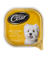 Cesar® Canine Cuisine with Chicken & Veal in Meaty Juices 3.5 oz. Plastic Container