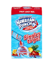 Hawaiian Punch Singles To Go Fruit Juicy Red Sugar Free Drink...