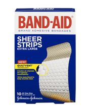 Band-Aid® Sheer Strips Extra Large All One Size 10 ct