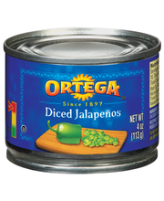 Ortega Diced Jalapenos 4 Oz Can