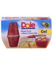Dole® Mixed Fruit in Black Cherry Gel 4-4.3 oz. Cups