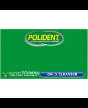 Polident® Antibacterial Denture Cleanser Overnight Whitening ...