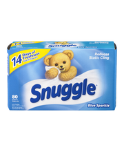 Snuggle® Blue Sparkle® Fabric Softener Dryer Sheets 80 ct Box