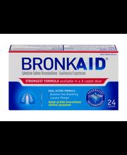 Bronkaid Ephendrine Sulfate/Broncholiator Caplets - 24 CT