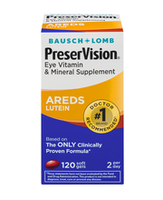 Bausch + Lomb PreserVision Eye Vitaming & Mineral Supplement ...