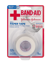 Johnson & Johnson® Band-Aid® 1 in. Small Paper Tape 10 yd. Roll