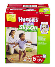 HUGGIES Little Movers Slip On Size 5 Diapers 50 ct Pack
