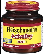 Fleischmann's Yeast Active Dry Yeast 4 Oz Jar