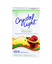 Crystal Light On the Go Raspberry Green Tea Drink Mix 10 ct Box