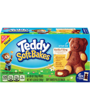 Nabisco Teddy Soft Bakes Vanilla Filling Soft Baked Filled Sn...