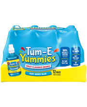 Tum–E Yummies® Very Berry Blue Fruit Flavored Water Drink 12-...
