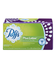 Puffs® Plus Lotion™ White Facial Tissues 124 ct Box