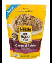 Nestle TOLL HOUSE Frozen  Oatmeal Raisin Cookie Dough 18 oz. ...