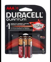 Duracell Quantum AAA Alkaline Batteries - 6 CT