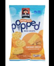 Quaker® Popped® Cheddar Cheese Flavor Rice Crisps 3.03 oz. Bag