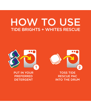 Tide® Brights + Whites Rescue™ In-Wash Laundry Booster Pacs 1...