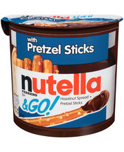 Nutella®& Go! Hazelnut Spread + Pretzel Sticks 1.9 oz. Container