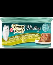 Purina Fancy Feast Medleys White Meat Chicken Primavera Pate ...