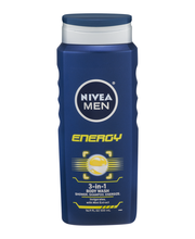 Nivea Men® Energy 3-in-1 Body Wash 16.9 fl. oz. Bottle