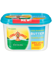 Land O Lakes® Less Sodium Butter Spread with Canola Oil 15 oz...
