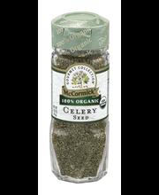 McCormick Gourmet™ Organic Celery Seed 1.62 oz. Bottle