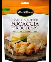 Mrs. Cubbison's® Garlic & Butter Focaccia Croutons 4 oz. Pouch