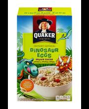 Quaker® Dinosaur Eggs™ Brown Sugar Instant Oatmeal 14.1 oz. Box
