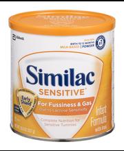 Similac Sensitive® Infant Formula with Iron 12 oz. Canister