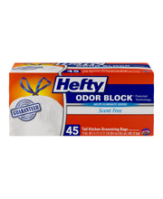 Hefty® Strong Scent Free 13 Gal. Tall Kitchen Drawstring Bags...
