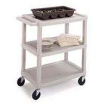 Standard Duty KD Plastic Utility Cart with 3 Shelf