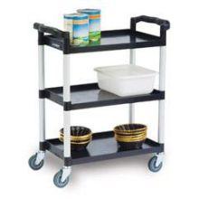 Traditional Series KD Standard Duty Economy 3 Shelf Plastic Utility Cart