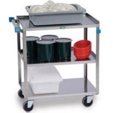 Traditional Series Stainless Steel Standard Duty Three Shelf Utility Cart