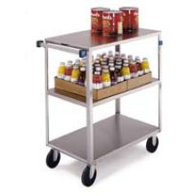 Stainless Steel Medium Duty 3 Shelves 3 Edges Up and 1 Down Banquet Cart