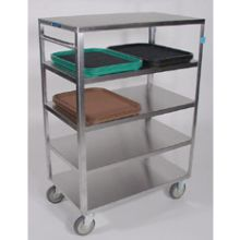 Stainless Steel Medium Duty 5 Shelves 3 Edges Up and 1 Down Banquet Cart